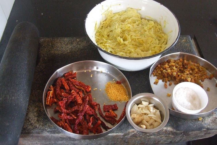 Dates and Mango Pickle.