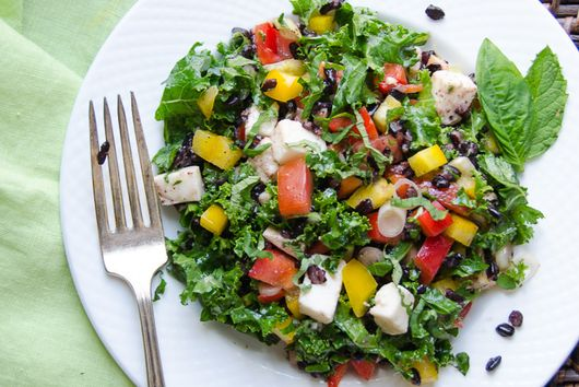 tangy italian black rice salad