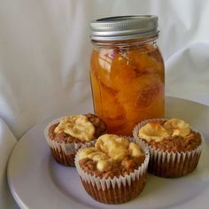 Peach Cheesecake Muffins