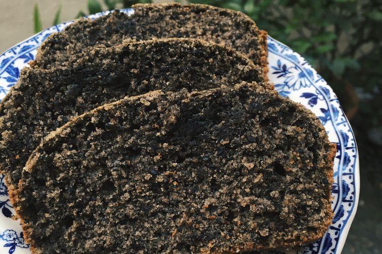 Black Sesame Coffee Loaf Cake