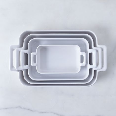 Porcelain Rectangular Roasting Dishes