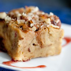 Banana Rum Challah Bread Pudding
