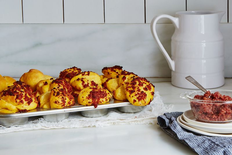 Sweet Potato Rolls with Bacon and Brown Sugar Butter