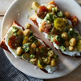 Chickpea parsley salad by Nicole S. Urdang
