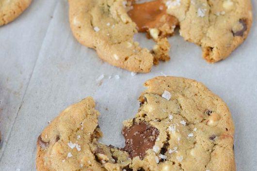 Stuffed Chocolate Chip Cookies with Sea Salt