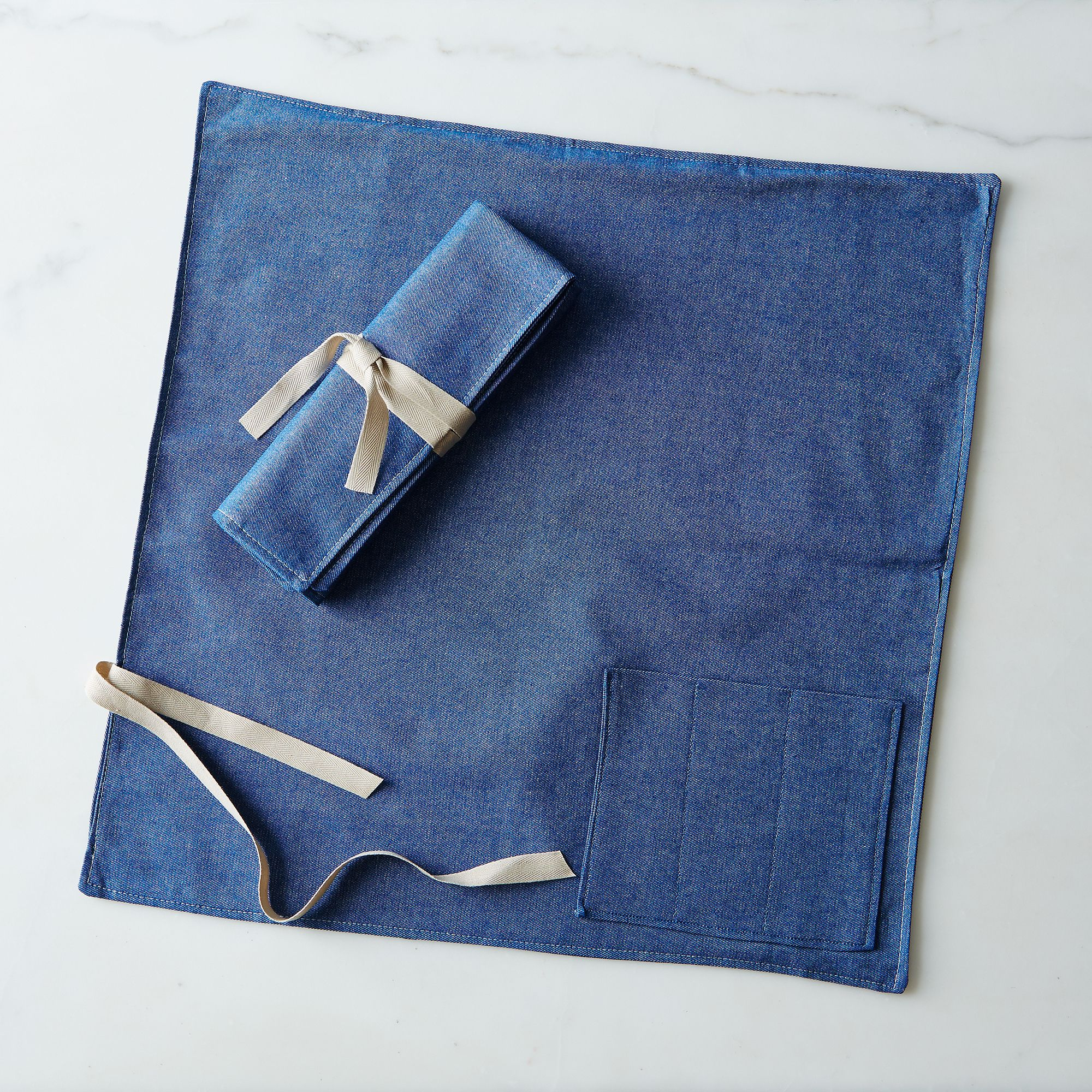 Denim Flatware Place Setting Set Of 2