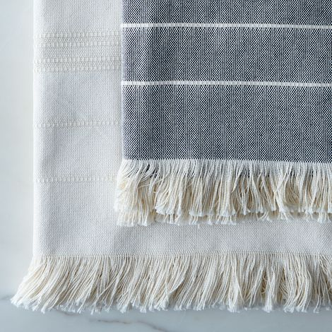 Amana Weave Fringe Throw