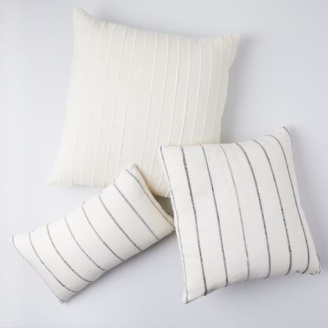 Recycled Cotton Throw Pillows