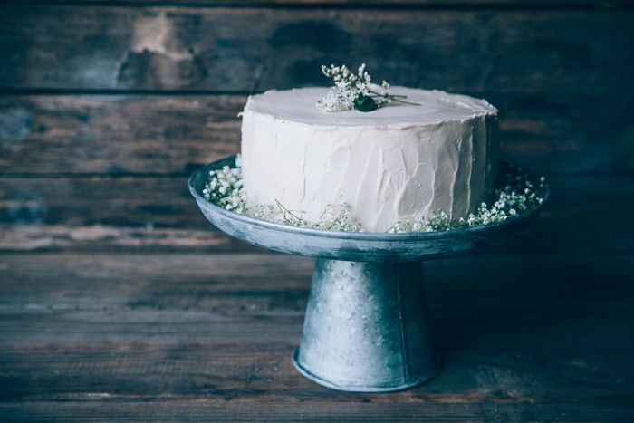 Buttermilk Cake with Whiskey Frosting