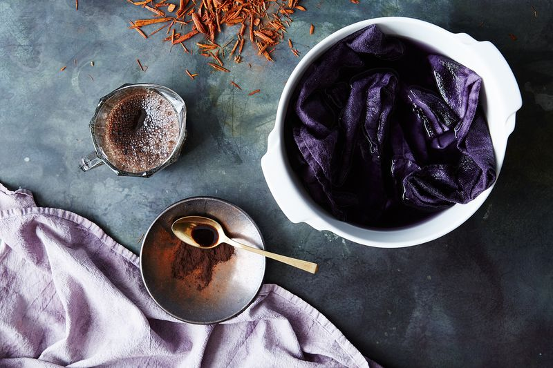 Logwood extract created this rich purple color.
