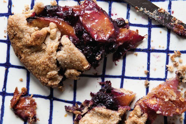 Rustic Nectarine, Blueberry, and Vanilla Bean Tart