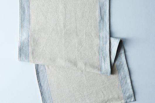 Agrarian Striped Linen Table Runner