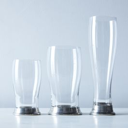 Glass & Pewter Beer Glasses