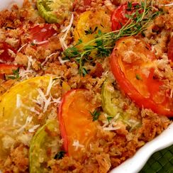 Heirloom Tomato Gratin