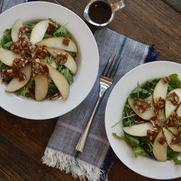 Pear and Arugula Salad with Pepita Brittle