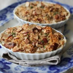 Creamy Hot Clam Dip with a Toasted Herbed-Almond Crust
