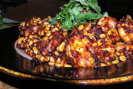 Shrimp with Red Chile and Piñon Nuts