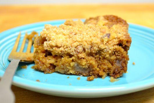 vegan apple peanut butter coffee cake