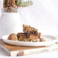 dark chocolate hazelnut biscotti