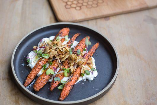 Honey Roasted Carrots with Greek Yogurt