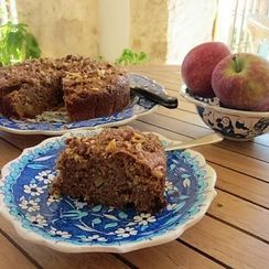 Spiced apple fudge cake