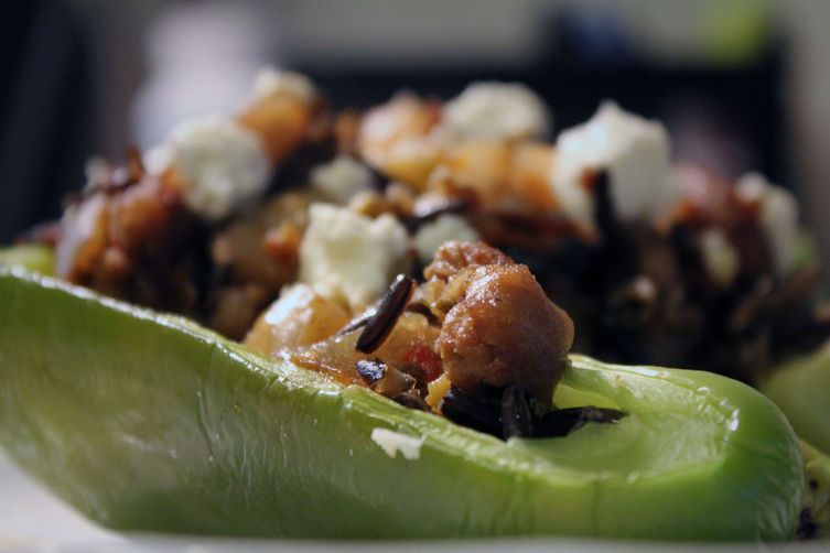 Stuffed Peppers with Wild Rice, Italian Sausage & Caramelized Fennel