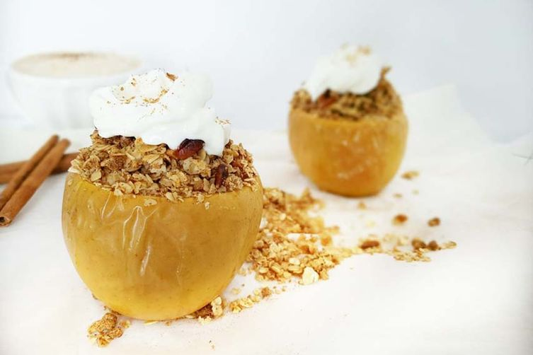 Baked Stuffed Apple Crumble