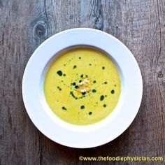 Chilled Corn Soup with Basil Oil