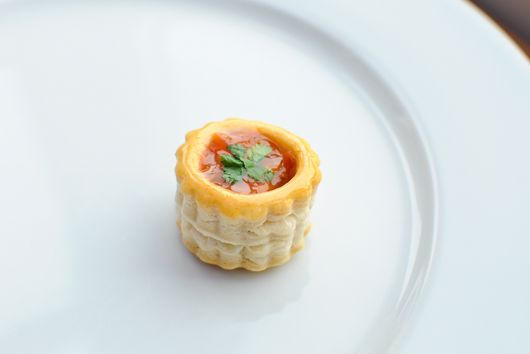 Salsa and Coriander Canape