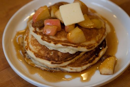 Buttermilk Pancakes with Apple Cinnamon Syrup