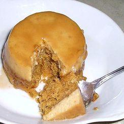 Impossible Pumpkin Chai Flan Cake