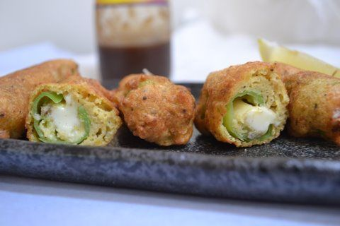 Crispy Chili Pepper Stuffed Pakora