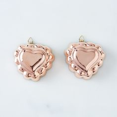 Vintage Copper Heart Molds, Mid-20th Century (Set of 2)