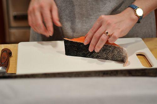 Salmon in Sorrel Sauce