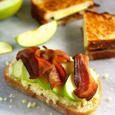 Pickled Apple, Cheddar, and Bacon Sandwiches