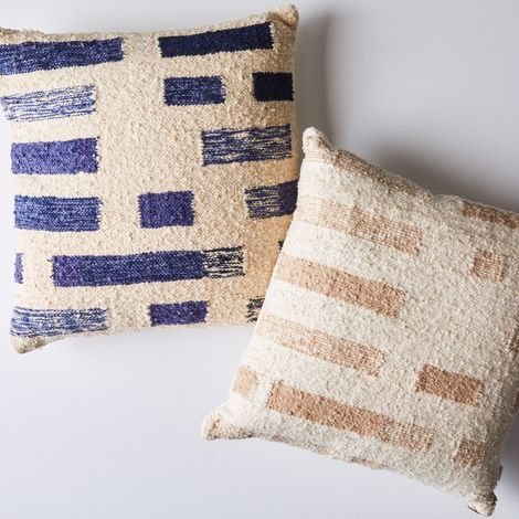 Handwoven Wool & Cotton Shadow Pillow