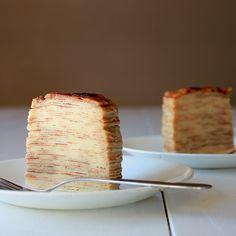 Creme brulee crepe cake