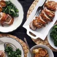 Pancetta-Wrapped Pork Tenderloin with Date Jam