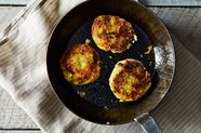 Mashed Potato Cakes with Broccoli and Cheese