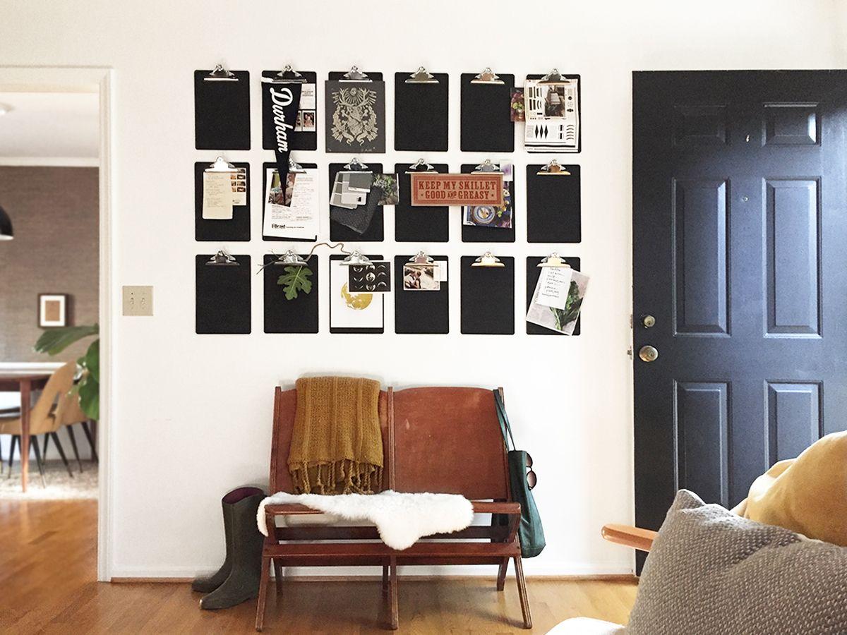 A DIY Clip Board Wall To Get