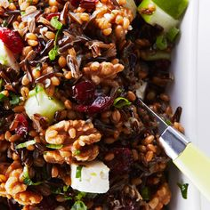 Wheat Berry and Wild Rice Salad