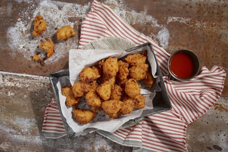 Texas Pete® Hush Puppies w/ Cheddar Cheese & Bacon