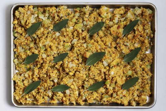 Sheet-Pan Cornbread Stuffing With Sage