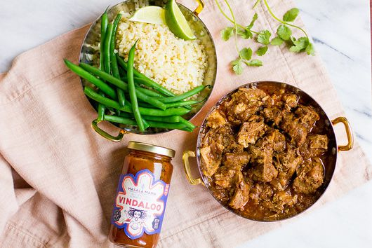 Instant Pot Pork Vindaloo with Cauliflower Rice