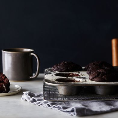 Vegan, Gluten-Free Double Chocolate Muffins