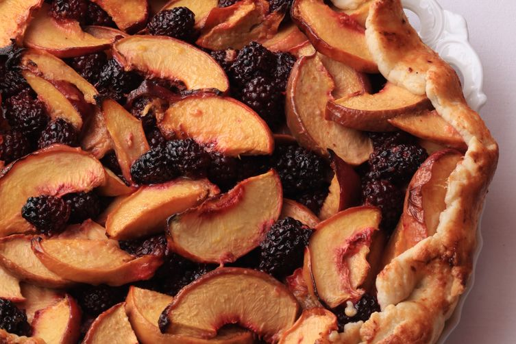 Peach and Blackberry Crostata