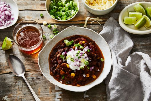 Cremini Mushroom, Black Bean, and Corn Chili