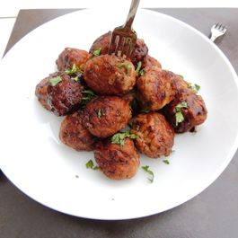 Raspberry Balsamic Chicken Meatballs