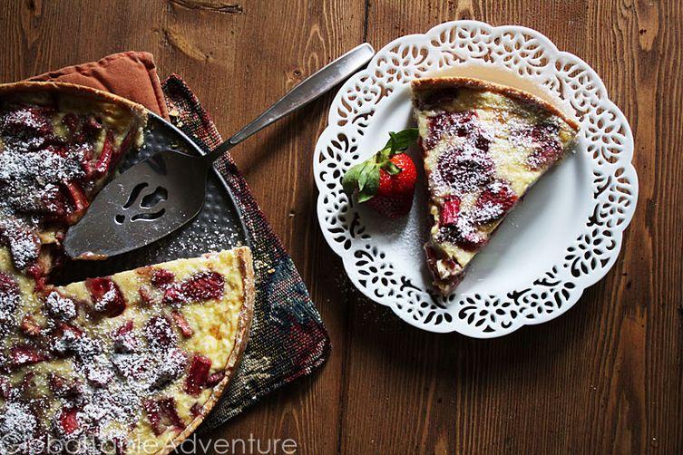 Rhubarb & Cream Tart