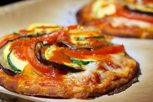 Ratatouille Pizzas on Pita Crust